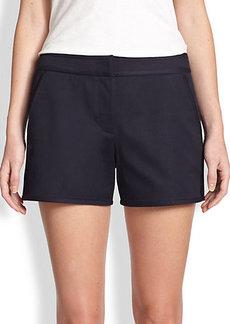 Tory Burch Tessa Stretch Cotton Twill Shorts