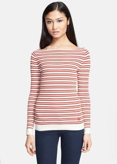 Tory Burch 'Thandie' Stripe Ribbed Sweater