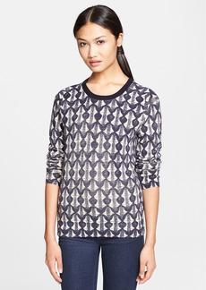 Tory Burch 'Tia' Print Merino Wool Sweater