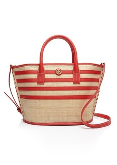 Tory Burch Tote - Stripe Straw Mini