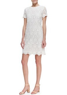 Tory Burch Trixy Crochet Lace Dress, Ivory