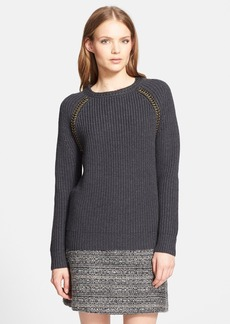 Tory Burch 'Trudy' Chain Detail Sweater