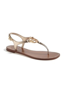 Tory Burch 'Violet' Metallic Leather Thong Sandal