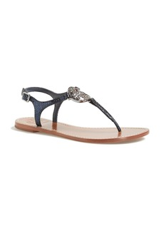 Tory Burch 'Violet' Metallic Leather Thong Sandal (Nordstrom Exclusive)