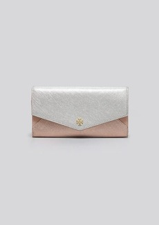 Tory Burch Wallet - Robinson Colorblocked Envelope Continental