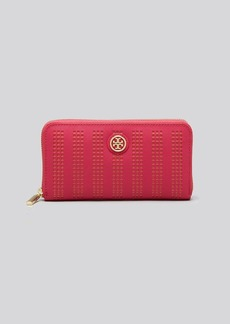 Tory Burch Wallet - Robinson Perforated Zip Continental