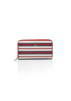 Tory Burch Wallet - Robinson Stripe Zip Continental