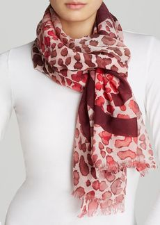 Tory Burch Watercolor Leopard Print Scarf