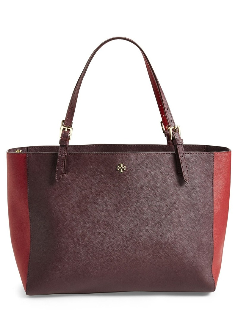 tory burch tory burch 39 york 39 colorblock buckle tote sizes all sizes shop it to me all. Black Bedroom Furniture Sets. Home Design Ideas