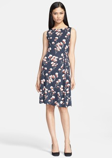 Tory Burch 'Zandi' Flower Print Jersey Crepe A-Line Dress