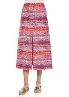 Yarn-Dyed Soft Silk Midi Skirt   Yarn-Dyed Soft Silk Midi Skirt