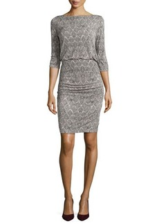 Tracy Reese 3/4-Sleeve Slim Jersey Dress