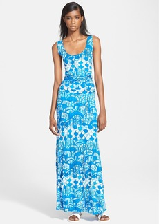 Tracy Reese Abstract Print Matte Jersey Maxi Dress