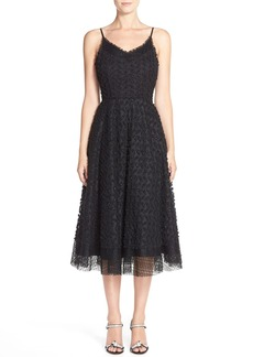 Tracy Reese Appliqué Crepe Fit & Flare Dress