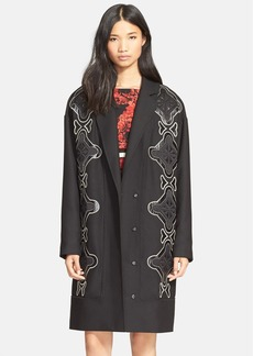 Tracy Reese Appliqué Stretch Cady Coat