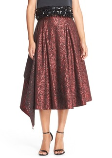 Tracy Reese Asymmetrical Jacquard A-Line Skirt