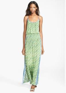 Tracy Reese Batik Print Jersey Maxi Slipdress