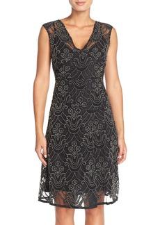 Tracy Reese Beaded Silk Fit & Flare Dress