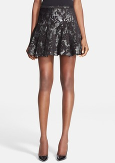 Tracy Reese Brocade Flare Miniskirt