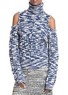 TRACY REESE Cable Knit Cold Shoulder Sweater