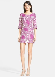 Tracy Reese Chrysanthemum Print Jacquard Minidress