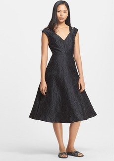 Tracy Reese Cloqué Fit & Flare Dress