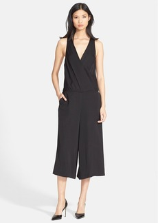 Tracy Reese Crop Wide Leg Satin Jumpsuit