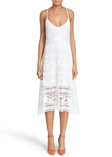 Tracy Reese Cross Strap Lace Slipdress