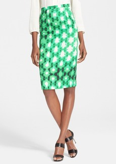 Tracy Reese Digital Fence Print Pencil Skirt
