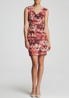 Tracy Reese Dress - Sleeveless Floral Print Jacquard Sheath