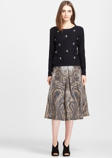 Tracy Reese Embellished Cotton & Cashmere Sweater