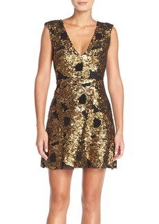 Tracy Reese Embellished Fit & Flare Dress