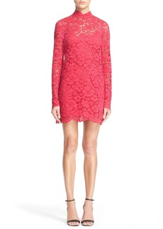 Tracy Reese Embellished Lace Mock Turtleneck Sheath Dress