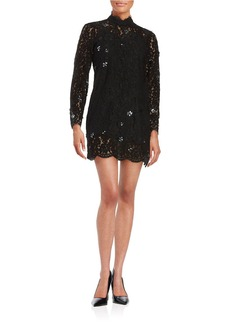 TRACY REESE Embellished Lace Shift Dress