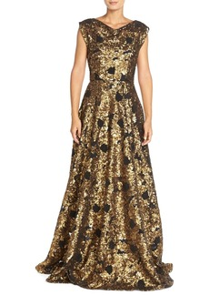 Tracy Reese Embellished Mesh Ballgown