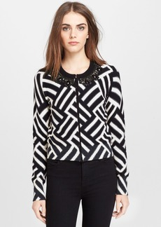 Tracy Reese Embellished Neck Cardigan