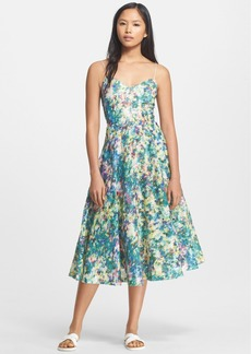 Tracy Reese Embellished Print Fit & Flare Dress