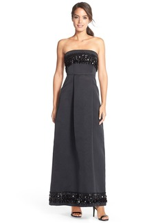 Tracy Reese Embellished Strapless Gown