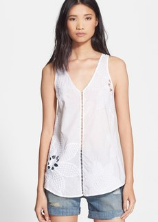 Tracy Reese Embroidered Cotton Tank