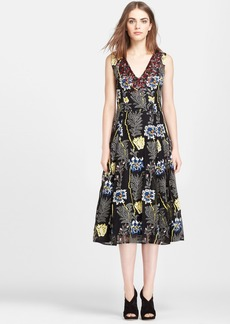 Tracy Reese Embroidered Fit & Flare Dress