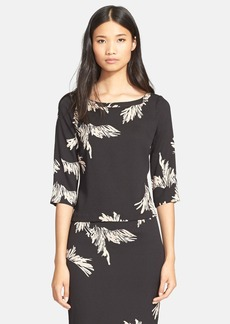 Tracy Reese 'Eyelash' Print Stretch Crepe Top