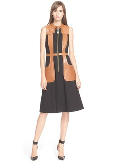 Tracy Reese 'Felicity' Faux Leather Trim Dress