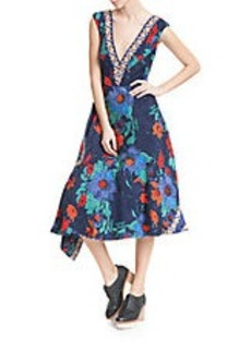 TRACY REESE Floral Fit-and-Flare Dress
