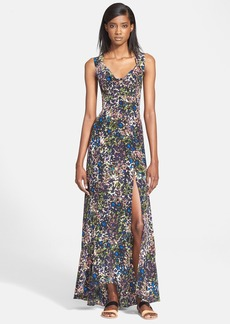Tracy Reese Floral Print Silk Maxi Dress
