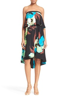 Tracy Reese Floral Print Strapless Dress