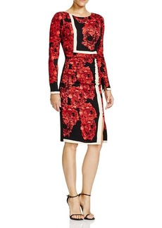 Tracy Reese Floral Print Stretch Crepe Dress