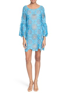 Tracy Reese Flounce Sleeve Lace Shift Dress