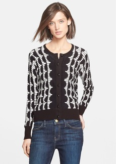 Tracy Reese Graphic Stripe Cardigan
