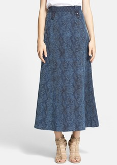 Tracy Reese Jacquard A-Line Midi Skirt