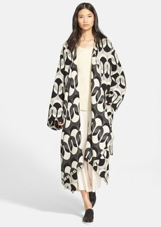 Tracy Reese Jacquard Blanket Coat